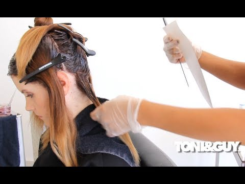 How to Color Hair | Ombre Balayage Hair Color Technique FULL LENGTH ...