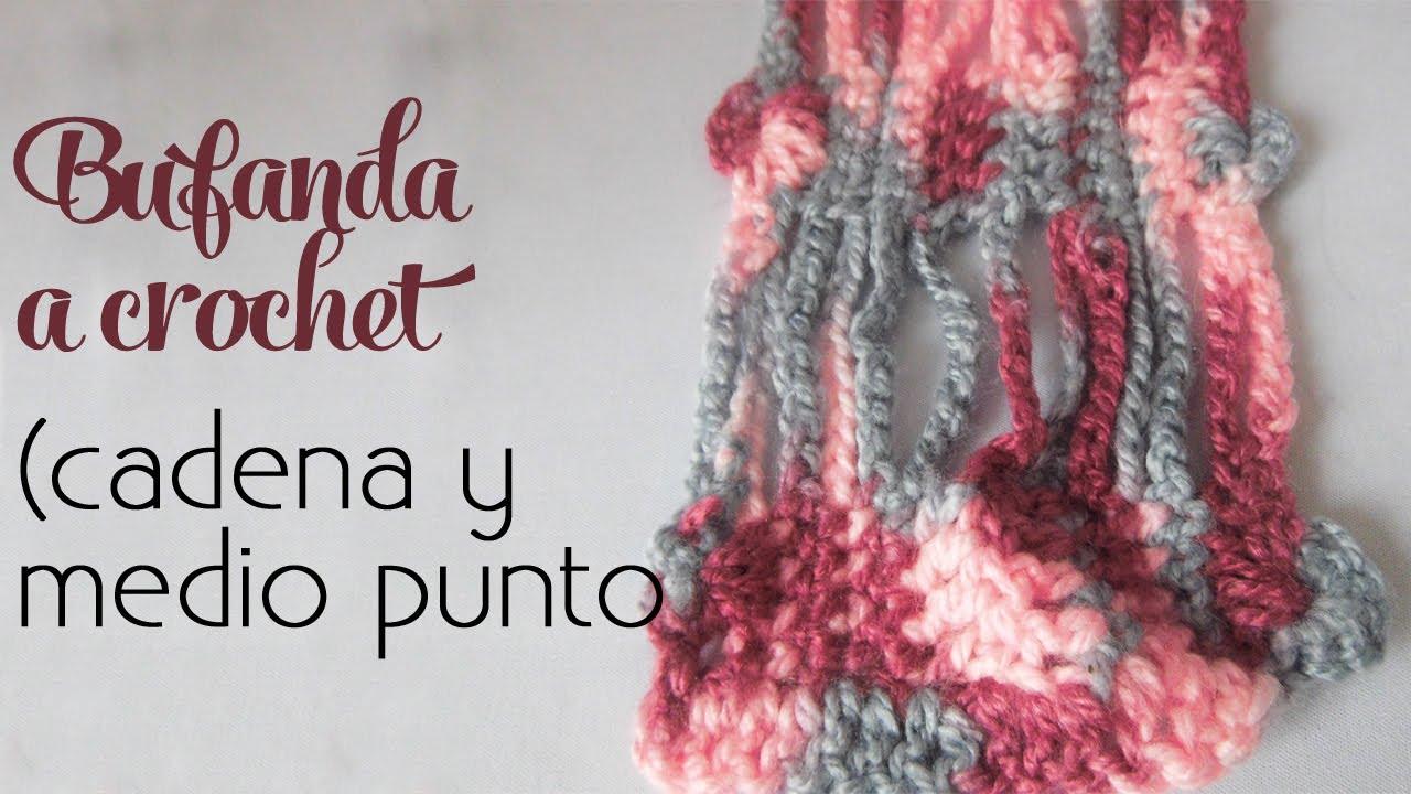 Cómo tejer Bufanda súper fácil (cadenas y medios puntos)