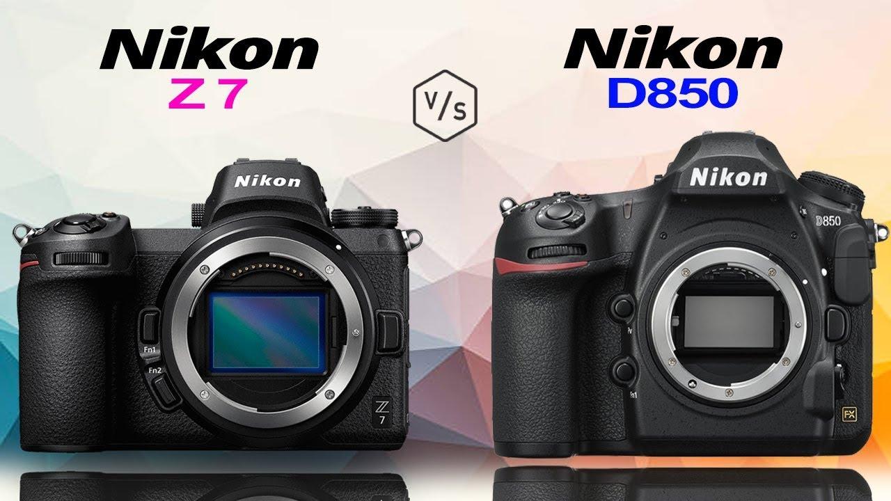 Nikon Z7 vs Nikon D850