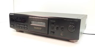 HOW TO - change the belts on a 1990`s Sony cassette tape deck - model TC-KE400S