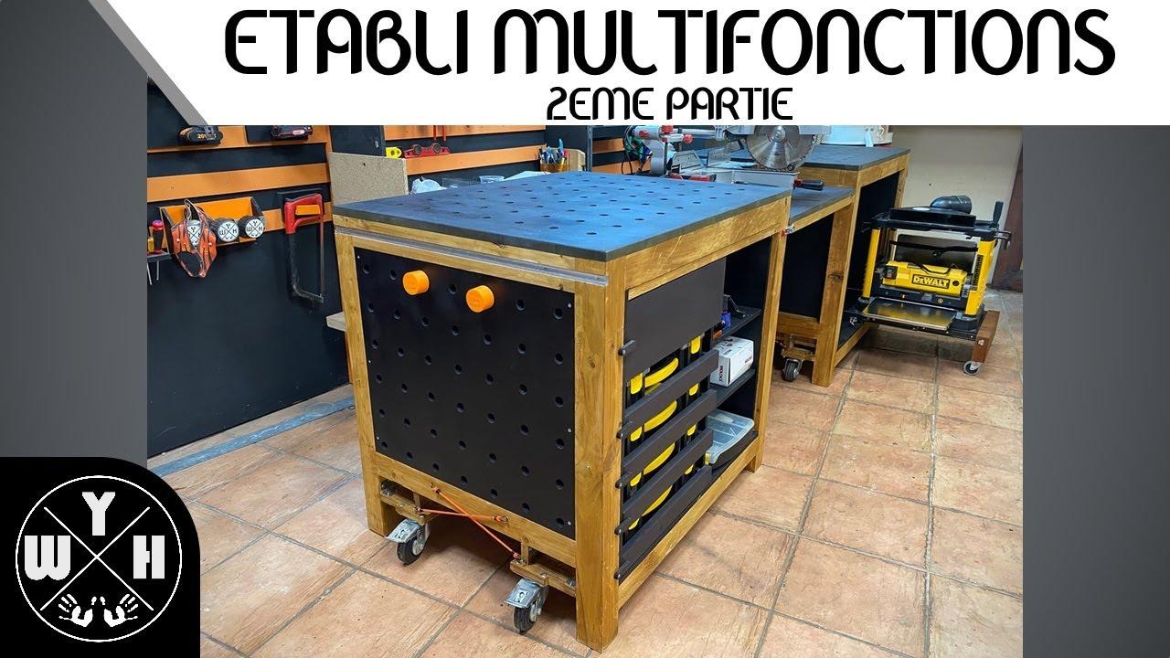 Construire Un Etabli Multifonction diy - fabriquer son etabli multifonctions - partie 2 - youtube