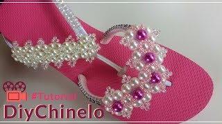 Chinelos Personalizados – Trama de Pérolas Pink