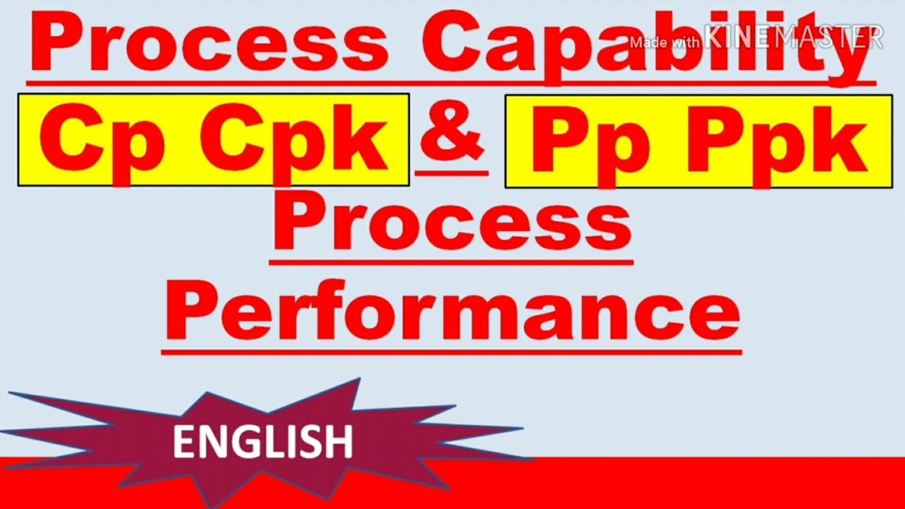 Process capability study I Process Capability cp and cpk I cp cpk and pp ppk