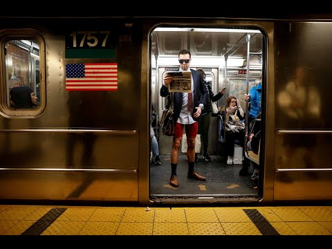 Commuters board trains without trousers, Zebra's let loose on the streets |NEWS IN 90
