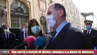 Jean Castex a rencontré Michèle Rubirola à la mairie de Marseille