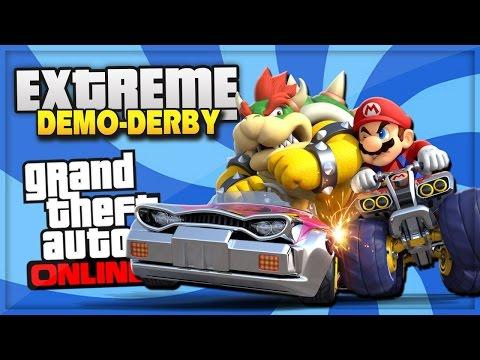 GTA 5 Demolition Derby! - GIANT BLENDER, FUNNY GLITCH, CRAZY DEATHS! (GTA V Funny Moments)