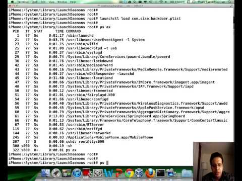 iOS 6.0.1 - Creating a Remote Root Shell using Bash and Launchd