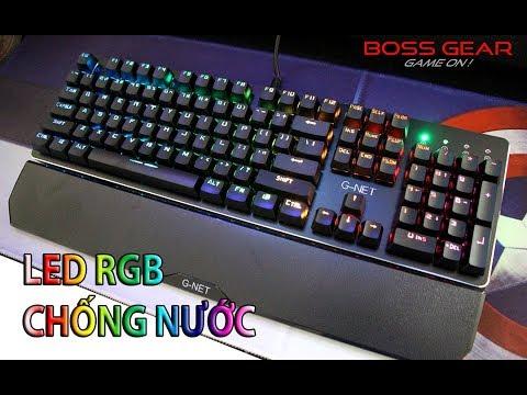 Bàn Phím Cơ Chống Nước Với LED RGB + Kê Tay    GNET K89 RGB