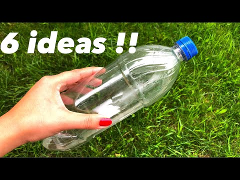 Plastic bottle creative recycle craft ideas - waste material craft idea