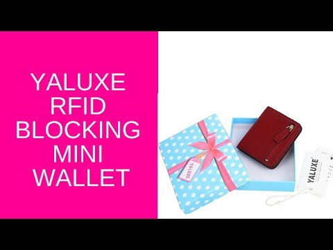 unboxing-of-yaluxe-women's-rfid-blocking-small-compact-leather-wallet