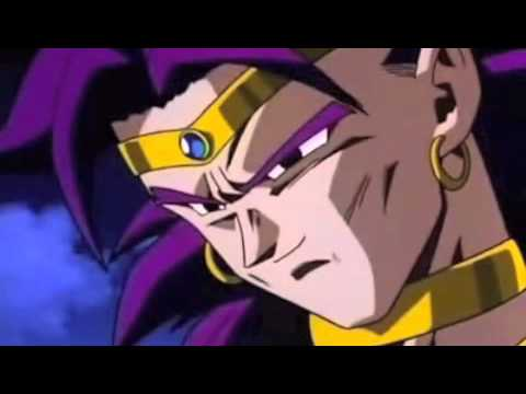 Dragon Ball Z Broly attacks Goku