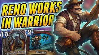 And I used to think this is bad... | Wild Reno Warrior | Hearthstone Rise of Shadows