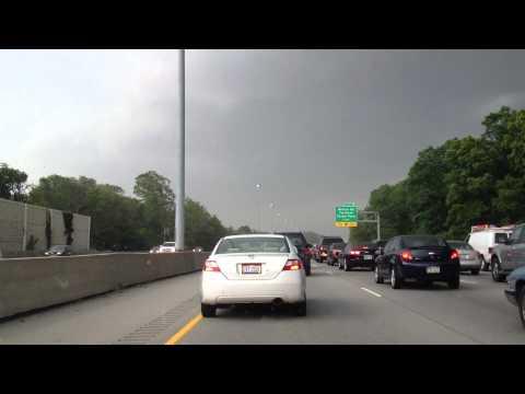 Derecho wind storm as it moves through Cincinnati