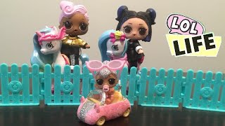LOL Life! LOL Dolls Stop Motion Miniseries Ep 10 - lil Kitty Queen's Customized Cutie Car!