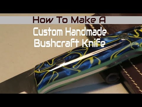How To Make A Custom Handmade Bushcraft Knife - Trapper 95 With Micarta Handle and Neon Glow Liner