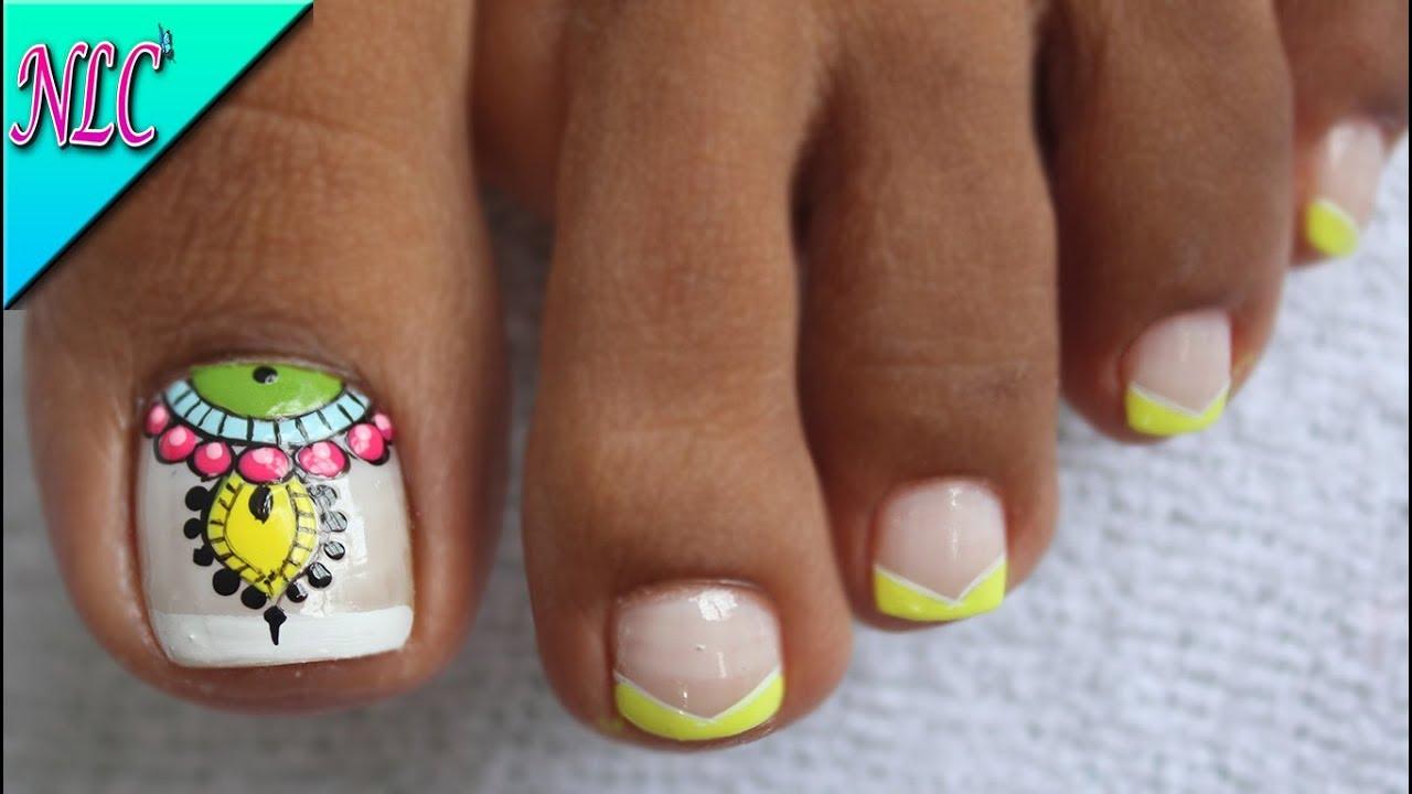 Decoración De Uñas Para Pies Mandalas Y Francés Mandalas Nail