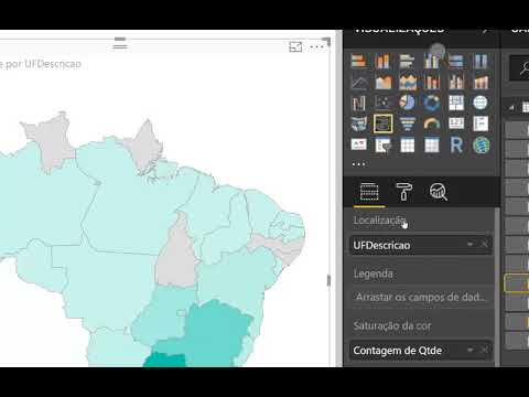 Power BI - Mapa de Formas do Brasil