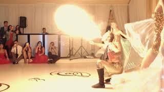 Fire of Love - Fire/Egyptian Wing Dancer Wedding Performance