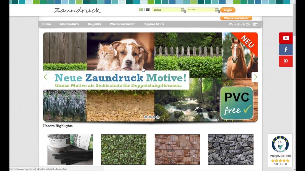 Zaundruck De zaundruck.de - anleitung eigenes motiv - youtube