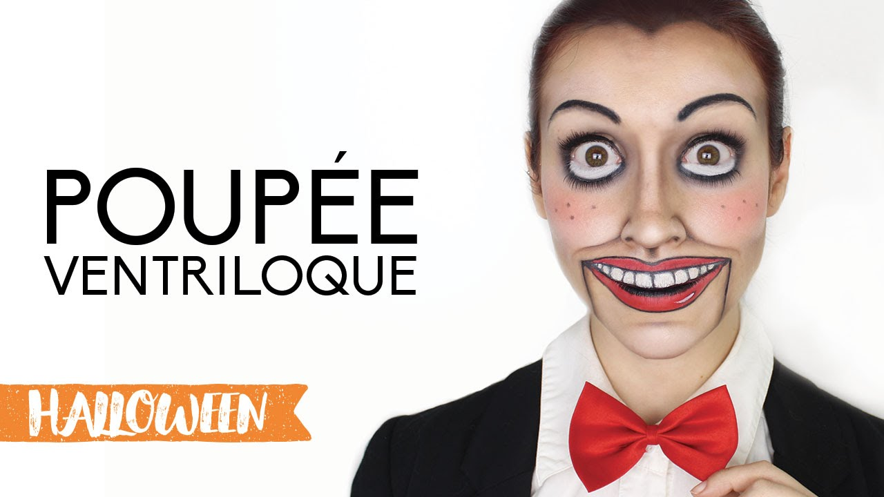 Maquillage d 39 halloween poup e ventriloque youtube - Maquillage poupee halloween ...
