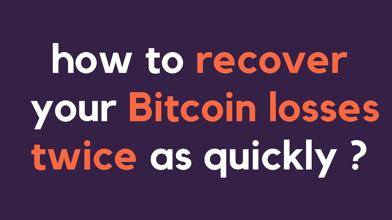 How to recover your Bitcoin and Crypto losses twice as quickly? (recomended  for HODLers)