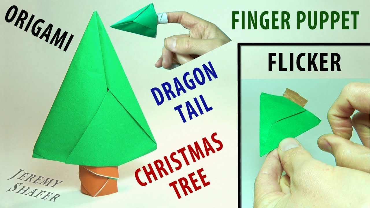 Origami Dragon Tail Claw Christmas Tree Flicker