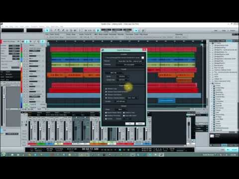 Studio One 2 - Export Mixdown (setting the start and end markers)