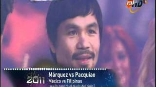 Marquez and Pacquiao singing in TV AZTECA