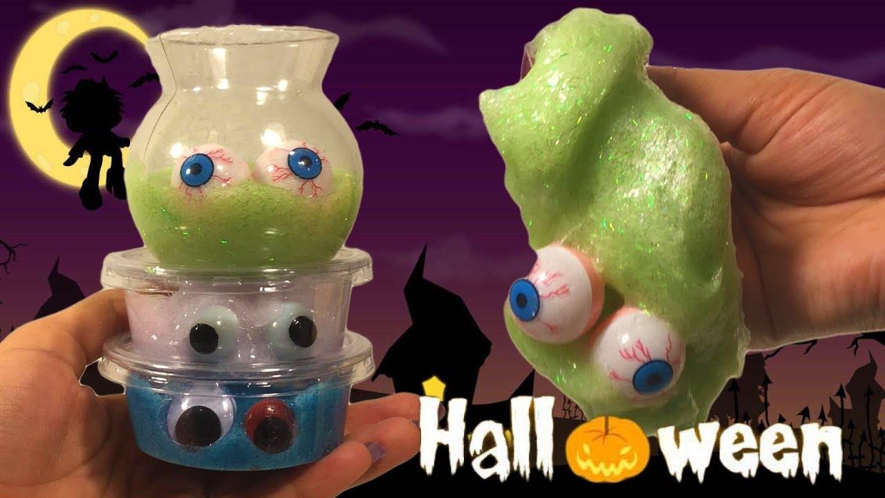 Zeeman Halloween.Diy Halloween Slijm 3x Oogbalslijm Lijmtest Lijm Van Hema Zeeman En Ltc