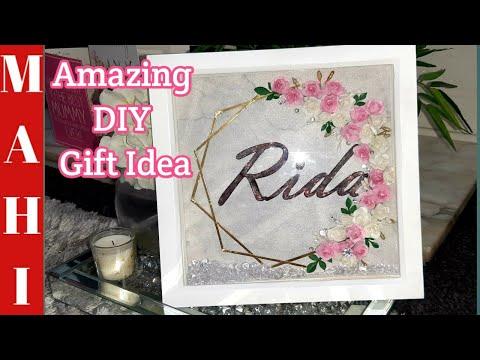 Box Frame Ideas| DIY Floral Shadow Box Frame | Personalised Frame | DIY Gift Idea | Flower Frame