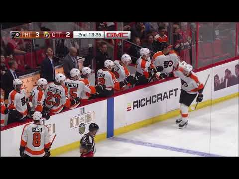 Jakub Voracek 2nd Goal - Philadelphia Flyers vs Ottawa Senators (10/10/18)