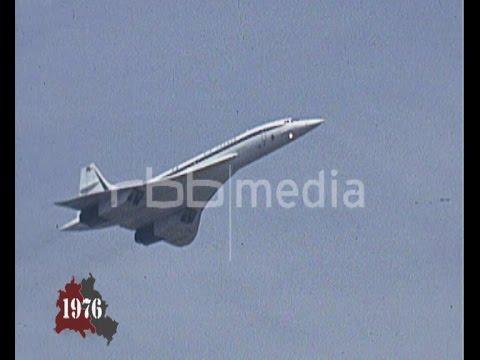 Concorde lands in Berlin-Tegel, January 17, 1976