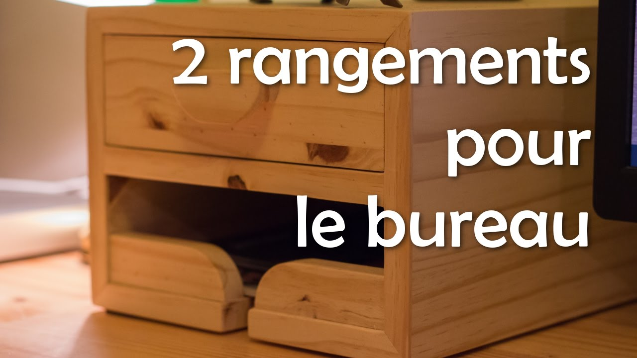 2 rangements pour le bureau menuiserie travail du bois youtube. Black Bedroom Furniture Sets. Home Design Ideas