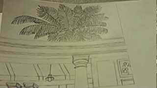 Drawing The Santa Fe Depot In Redlands With The Palm Tree: Part 1