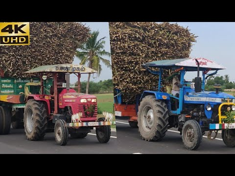 Mahindra 575 48 HP tractor Vs power truck Tractar Highway racing | Swaraj tractor power | CFV