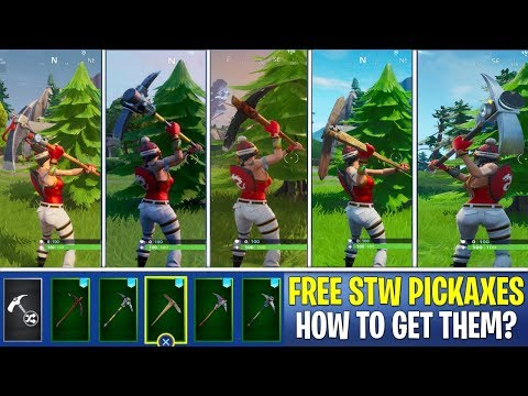 *NEW* FREE STW PICKAXES Gameplay In Fortnite! Save The World Pickaxe In Battle Royale