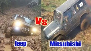 This Mitsubishi 4x4 Is Better Than Jeep 4x4  in Muddy Road? Extreme 4x4 Challenge