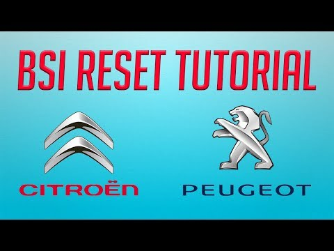 ✔ Tutorial how to BSI reset step by step on Citroen and Peugeot