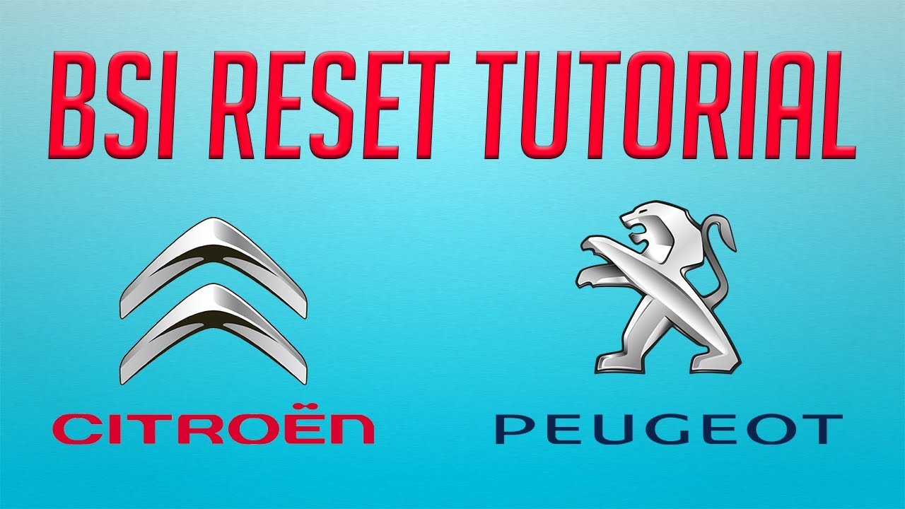 tutorial how to bsi reset step by step on citroen and peugeot [ 1280 x 720 Pixel ]