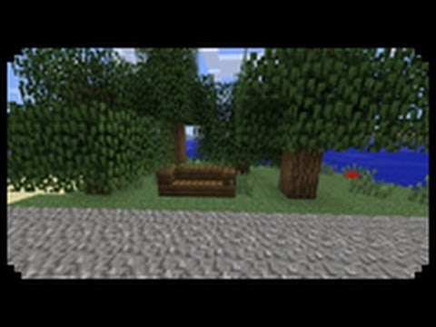 Minecraft How To Make A Bench Youtube