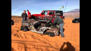 Grampa's Jeep on Double Sammy during Winter 4x4 Jamboree 2021