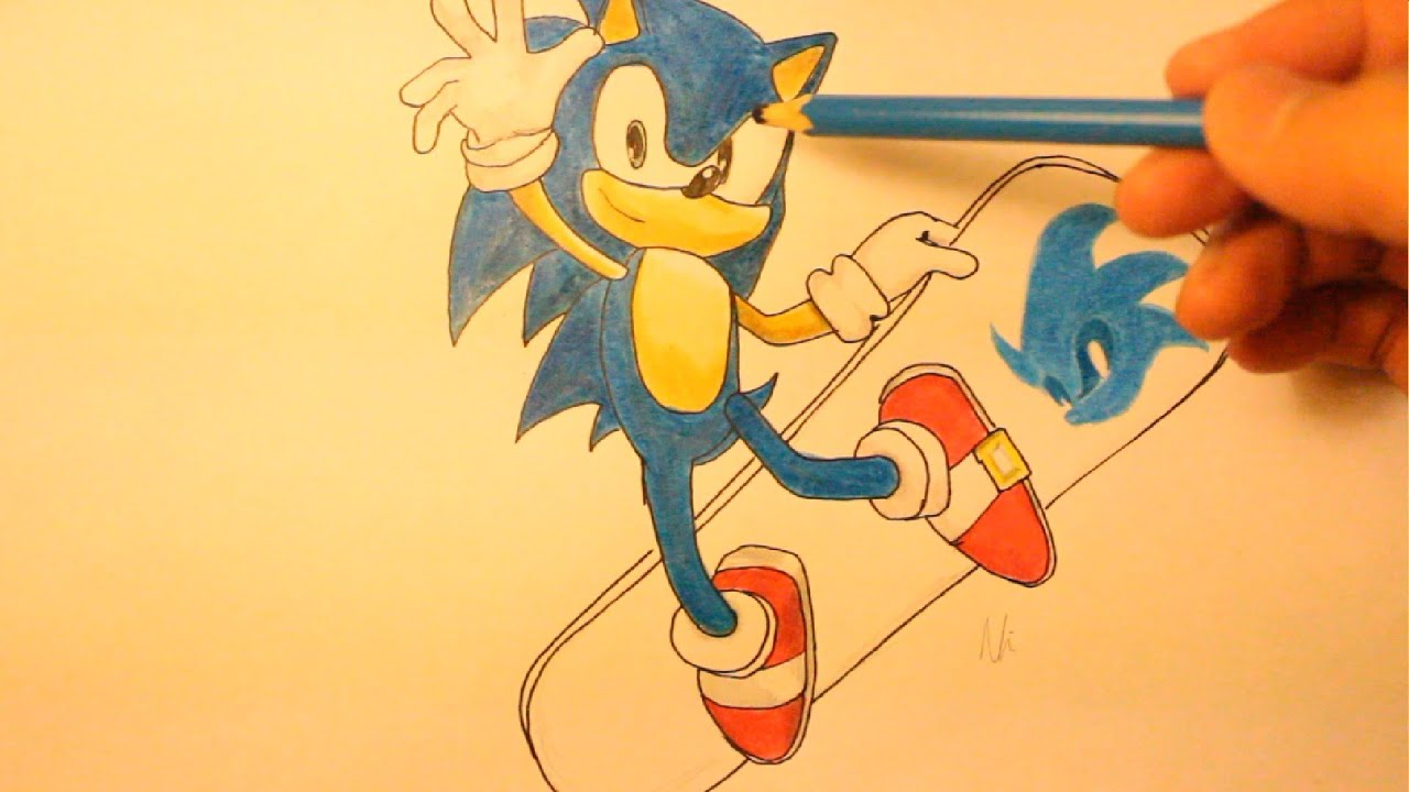 how to draw sonic the hedgehog sonic characters step by step easy