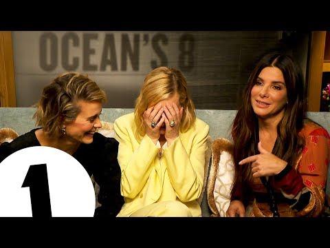 """That's the sign for SHUT UP"" Ocean's 8's Sandra Bullock, Cate Blanchett & Sarah Paulson cause chaos"