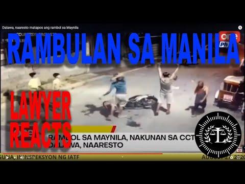 RAMBULAN SA MANILA | TUMULTUOUS AFFRAY