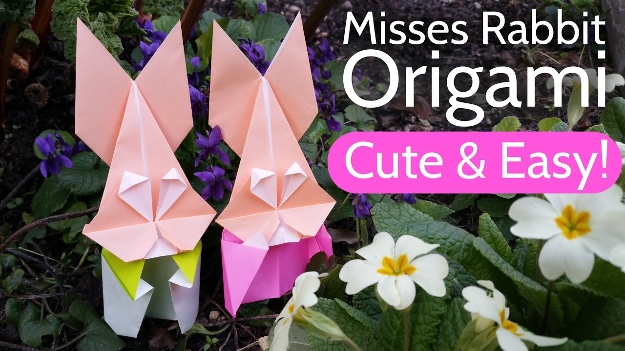 How to Make an Origami Bunny Face I origami paper rabbit face ... | 720x1280