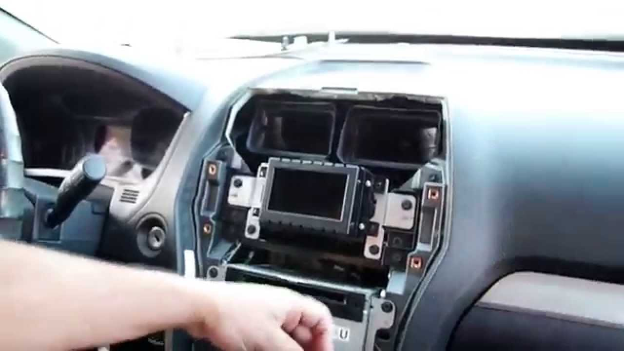Installing The Radio Upgradecom Ford Explorer Gps Navigation 2004 Hyundai Sonata Stereo Wire Harness Youtube