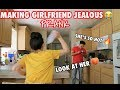 MAKING GIRLFRIEND JEALOUS PRANK!! *SHE GETS VIOLENT!*