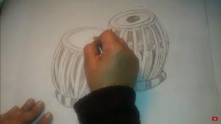 How to draw tabla step by step.