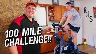 """100-Mile Stationary Bike """"Century Ride"""" Spinning Workout Challenge!!"""