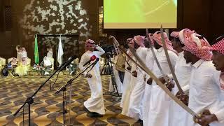دخول العراضه والنجم شبح بيشه في حفل الشيخ عبدالله بن جارالله العمري SAAS 1
